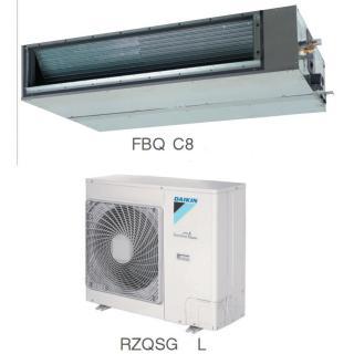 Кондиционер Daikin Сплит Система FBQ-C8/RZQSG-L Канальный Инверторный FBQ125C8 RZQSG125L8Y
